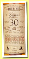Speyside 30 yo '5th Edition' (43%, Master of Malt, single malt, 2013)