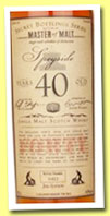 Speyside 40 yo '2nd Edition' (43%, Master of Malt, single malt, 2013)