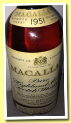 Macallan 1951 (80°proof, OB, Campbell, Hope & King, Rinaldi Italy, mid 1960's)