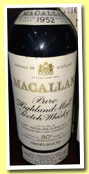 Macallan 1952 (80°proof, OB, Campbell, Hope & King, Rinaldi Italy, late 1960's)