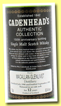 Macallan-Glenlivet 12 yo 1980/1992 (60.4%, Cadenhead's, 150th Anniversary, Black Label)