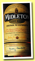Midleton 'Very Rare 2013' (40%, OB, Irish blend)
