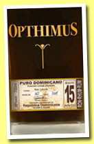 Opthimus 15 yo (38%, Oliver & Oliver, Dominican Republic, +/-2013)