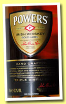 Powers 'Gold Label' (43.2%, OB, Irish blend, +/-2013)