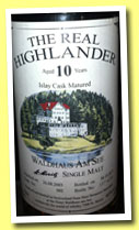 The Real Highlander 10 yo 2003/2013 (46%, Waldhaus am See, Switzerland, cask #2, 321 bottles)