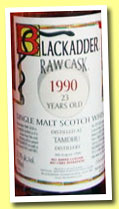 Tamdhu 23 yo 1990/2013 (52.9%, Blackadder, Statement, hogshead, cask #10928, 224 bottles)