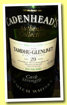 Tamdhu-Glenlivet 29 yo 1963/1992 (49.4%, Cadenhead, Authentic Collection)