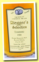 Tamdhu 24 yo 1988/2012 (57.2%, Riegger's Selection, bourbon, cask #417, 199 bottles)
