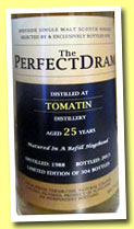 Tomatin 25 yo 1988/2013 (49.7%, The Whisky Agency, The Perfect Dram, hogshead, 304 bottles)