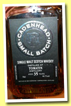 Tomatin 35 yo 1979/2013 (44.1%, Cadenhead, Small Batch, 594 bottles)