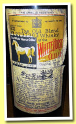 White Horse (No ABV, OB, bottled 1942)