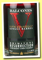 Balcones 'Brimstone Resurrection' (64.5%, OB, American Whiskey, +/-2013)