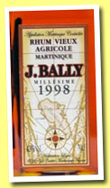 Bally 1998 (43%, OB, rhum agricole, Martinique, +/-2013)