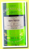Ben Nevis 17 yo 1977/1995 (59.8%, Cadenhead, Authentic Collection)