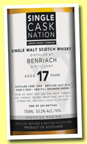 Benriach 17 yo 1995/2012 (53.2%, Single Cask Nation, bourbon barrel, cask #2522, 225 bottles)