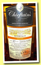 Benriach 17 yo 1996/2014 (43%, Chieftain's, St. Etienne rum finish, cask #93951/93953, 1063 bottles)