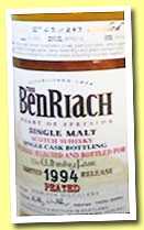 Benriach 19 yo 1994/2014 (53.1%, OB, The Whisky Fair, hogshead, cask #1616, 257 bottles)