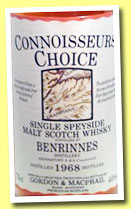 Benrinnes 1968 (40%, Gordon & MacPhail, Connoisseurs Choice, Old Map label, +/-1985)
