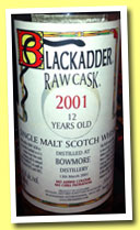 Bowmore 12 yo 2001/2013 (58.5%, Blackadder, Raw Cask, cask #20063, 312 bottles)