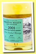 Bowmore 2001/2013 'Peat Smoked Herring' (46%, Wemyss Malts, 405 bottles)