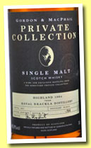 Royal Brackla 40 yo 1964/2004 (45.9%, Gordon & MacPhail, Private Collection, 94 bottles)