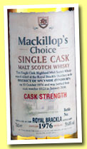 Royal Brackla 1976/2006 (59.4%, MacKillop's Choice, cask #6923)
