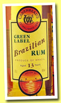 Brazilian Rum 13 yo (46%, Cadenhead's, Green Label, +/-2013)