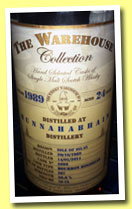 Bunnahabhain 24 yo 1989/2014 (50.8%, The Warehouse Collection, bourbon hogshead, cask #5695, 267 bottles)