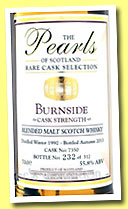 Burnside 1992/2013 (52,6%, Gordon & Company, The Pearls of Scotland, cask #7350, 312 bottles)