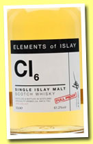Cl6 (61.2%, Speciality Drinks, Elements of Islay, 2014)