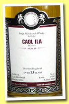 Caol Ila 13 yo 2000/2014 (54.9%, Malts of Scotland, bourbon hogshead, cask #MoS 14018, 245 bottles)