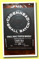 Caol Ila 29 yo 1984/2013 (55.5%, Cadenhead, Small Batch, 564 bottles)
