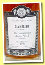Clynelish 1997/2013 (54.5%, Malts of Scotland, warehouse dram No.2, sherry hogshead, cask #MoS 13058, 185 bottles)