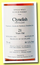 Clynelish 21 yo 1965/1986 (86 US proof, Duthie for Corti Brothers Sacramento, USA)