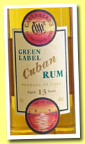 Cuban Rum 13 yo (46%, Cadenhead's Green Label, +/-2012)