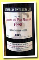 Enmore and Port Mourant 16 yo 1998/2014 (62.2%, Velier, Demerara, 848 bottles)