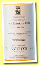 Finest Jamaican Rum 9 yo (86.8 US proof, Averys for Corti Brothers, USA, Wedderburn and Vale Royal, +/-1975)