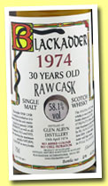 Glen Albyn 30 yo 1974/2004 (58.1%, Blackadder, Raw Cask, cask #1601, 258 bottles)