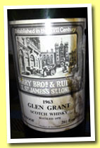 Glen Grant 1963/1978 (75° proof, Berry Bros & Rudd, 75.7cl)