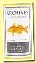 Glen Spey 25 yo 1988/201 (47.3%, Archives, bourbon hogshead, cask #356079, 163 bottles)