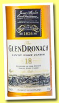 Glendronach 18 yo 'Tawny Port Finish' (46%, OB, 2014)