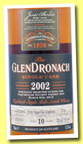 Glendronach 10 yo 2002/2013 (55.3%, OB, fresh virgin oak hogshead, cask #1743, 312 bottles)
