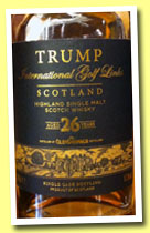 Glendronach 26 yo 1985/2012 'Trump' (53.3%, OB for Trump Golf Links, Pedro Ximenez, cask #1036, 504 bottles)