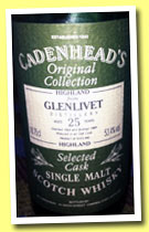 Glenlivet 25 yo 1964/1989 (53.4%, Cadenhead, Original Collection, 18.75cl)