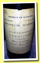 Glenlossie-Glenlivet 6 yo (86 proof US, OB, Chas. Mackinlay & Co., US import, for Army and Navy Stores, +/-1910s)