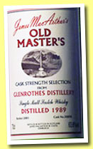 Glenrothes 1989/2001 (63.8%, James MacArthur, Old Masters, cask # 30898)