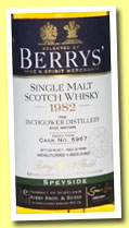 Inchgower 29 yo 1982/2011 (54.5%, Berry Bros & Rudd, cask #6967)