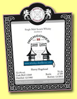 Inchgower 33 yo 1980/2013 (52.6%, Malts of Scotland for W-D info, sherry hogshead, cask #MoS 13069, 189 bottles)