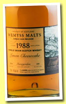 Invergordon 1988/2014 'Lemon Cheesecake' (46%, Wemyss Malts, barrel, 220 bottles)