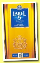 Label 5 18 yo 'Extra Rare' (40%, OB, Scotch blend, +/- 2014)